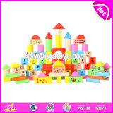 Wholesale Cheap 100 Pieces Educational Letters Wooden Children Toy Building Blocks W13b025