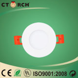 Ultrathin 3W Round Concealed LED Panel Light with Ce/RoHS