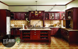 Modern Design Solid Wood Kitchen Cabinets (zs-318)