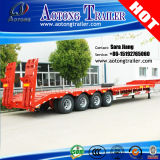 80-100tons 4 Axles Low Flatbed Semi Trailer Truck with Dolly