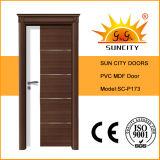 Hot Sale MDF Panel PVC Door, PVC Door with Door Crown (SC-P173)