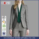 Fashiaon Ladies Check Suit of Ladies Western Pant Suit for Woman Suit