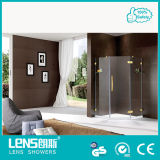 10/12mm Tempered and Filmed 100% Safety Shower Room/ Shower Cubicle/Shower Enclosure Diamond Shape Solid Brass Hardware (Randy A31)