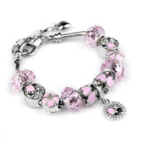Fashion Wholesale Murano Glass Bead Charm Beaded Bracelet
