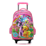 Cute Cartoon Characters 3D Kids Detachable Trolley School Bag Backpack