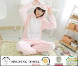 Ladies & Kid Coral Fleece Cartoon Hooded Bath Robe Df-8859