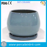 Wholesale Color Glazed China Ceramic Plant Pots with Saucer