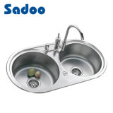 Double Bowl Stainless Steel Kitchen Sink SD-903A