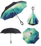 Popular Umbrella Inverted Windproof Reverse Folding Double Layer Inverted Umbrella