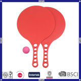 New Red Can Print Your Logo Promotional Plastic Beach Racket