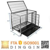 Tube Dog Cage with Wheels