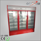 Deluxe Three Glass Door Upright Refrigerating Showcase