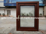 Aluminium Composite Wood Casement Window with Double Glazing