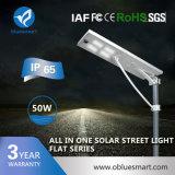 Bluesmart Aluminum Alloy 50W Solar Street Light with Long Lifespan