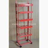 Rollling 5 Layer Ajustable Merchandise Rack (PHY341)