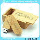 Twist Bamboo 16GB USB Stick with Engraved Logo (ZYF1321)