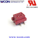 1.27mm Micro Match 4p Female SMT Red Lug