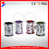 Hot Sale Decorative Tall Halloween Glass Candle Holders