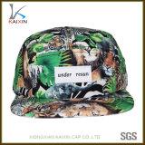 Wholesale Dye Sublimation Printing Woven Label 5 Panel Hat