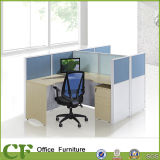 L Shaped Wooden 2 Person Workstation with 60mm Partition