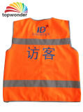 Customize Reflevtive Vest with Magic Tape Sticker, Logos, Zippers, Pockets, Sizes