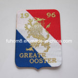 Custom Glod Metallic Thread Woven Tag for Garment