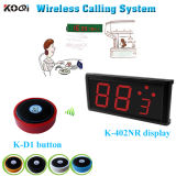 Smart Wireless Buzzer Caller System Show 2-Digit Monitor with Buttons
