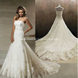Sweetheart Bridal Ball Gown White Lace Beading Wedding Dress W1471948