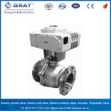 Stainless Steel Metal Seat Electric Ball Valve with Contact Signal Feedback