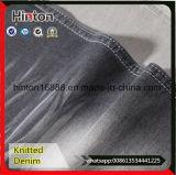 Grey Cotton Spandex French Terry Knit Denim Fabric