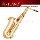 Eb Key Golden Lacquer Finish Professional Alto Saxophone (AAS5506G)