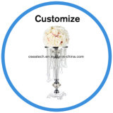 Unique Crystal Candelabra Flower Wedding Table Decoration Centerpieces