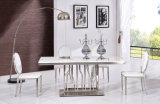 New Designs Furniture Marble Dining Table Set Modern