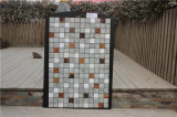 Building Material Grey Stone Mosaic Mix Glass Mosaic Tile