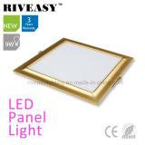 Electroplated Aluminum 9W Gold LED Panel Light