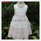 Handmade Equied Beading Flower Girls Dresses for Kids Clothes