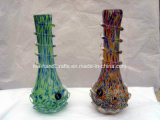 """11"""" Blown Soft Glass Smoking Pipes/Handmade Crafts with Special Lotus Base"""