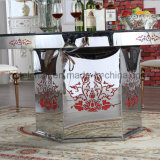 Fashion Design Glass Metal Dining Table for Hotel