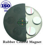 External Thread Pot Neodymium Magnet with Rubber Cover