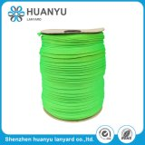 Elastic Woven Green Double Layer Polyester Tubular Flat Strap