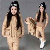 S1133 Winter Cotton-Padded Girls 3PCS Suit