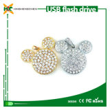 Crystal 3D Mickey Pendant Flash Memory USB Flash Drive