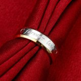 Stainless Steel Gold-Color Forever Love Fashion Rings