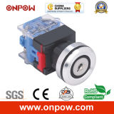 Onpow 30mm a Type Key Switch (LAS0-K30-11AY/21, CE, CCC, RoHS)