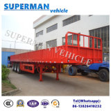 Tri Axle Compartment Side Wall Cargo Truck Semi Trailer