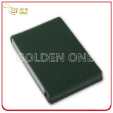 Hot Stamped Genuine Leather with Metal Business Card Case