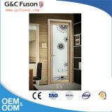 2016 Latest Aluminium Alloy Casement Bathroom Door with Frosted Glass