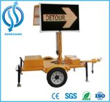 Traffic Safety Solar LED Screen Movable Sign Board
