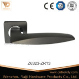 Mat Black Color Door Lever Handle on Square Rose (Z6323-ZR13)