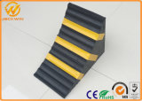 Reflective Rubber Truck Wheel Stopper Chock Heavy Duty
